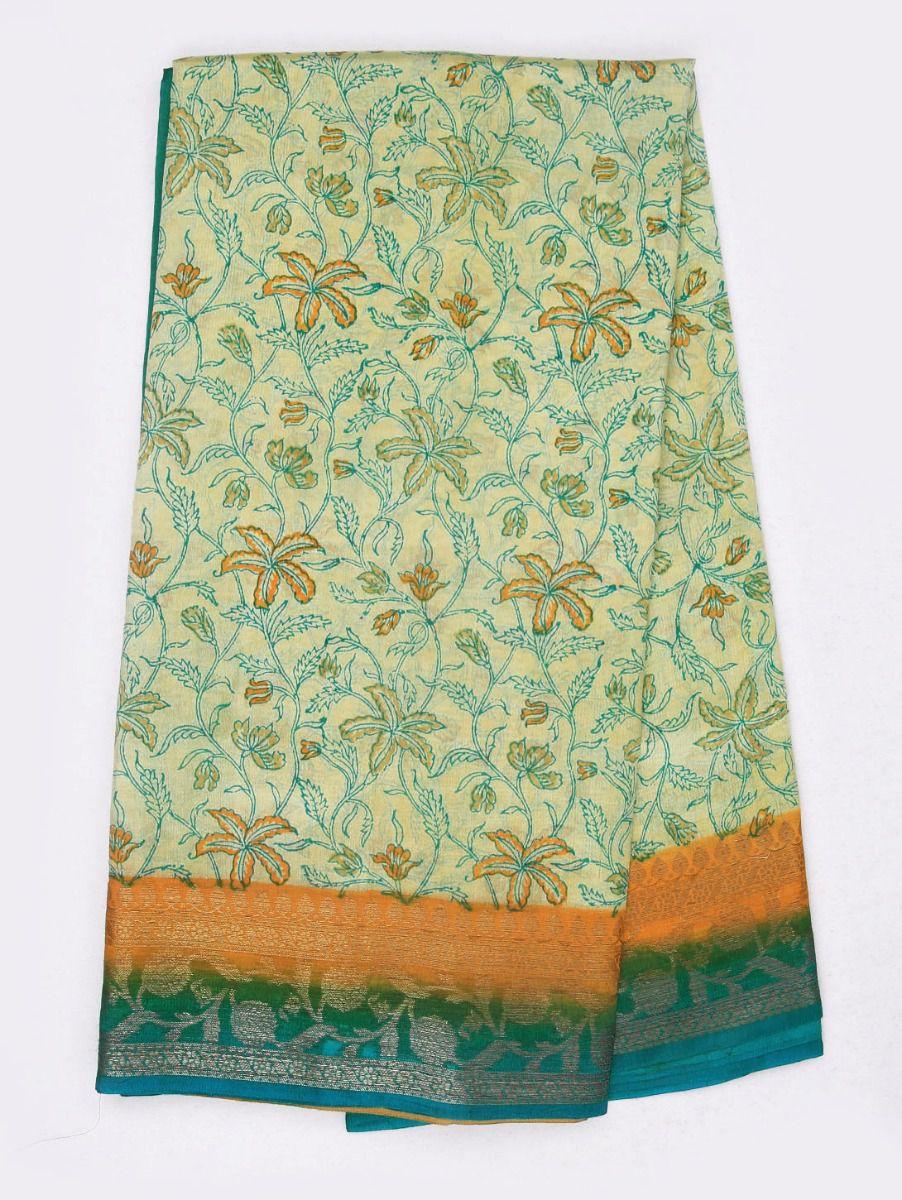 Kyathi Exclusive Dupion Printed Soft Silk Saree