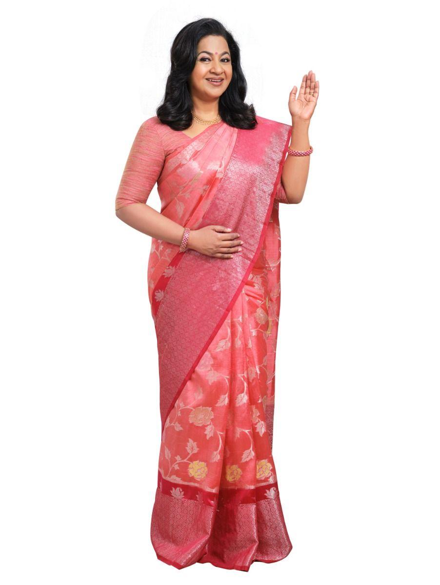 Kyathi Exclusive Dupion Tussar Silk Saree