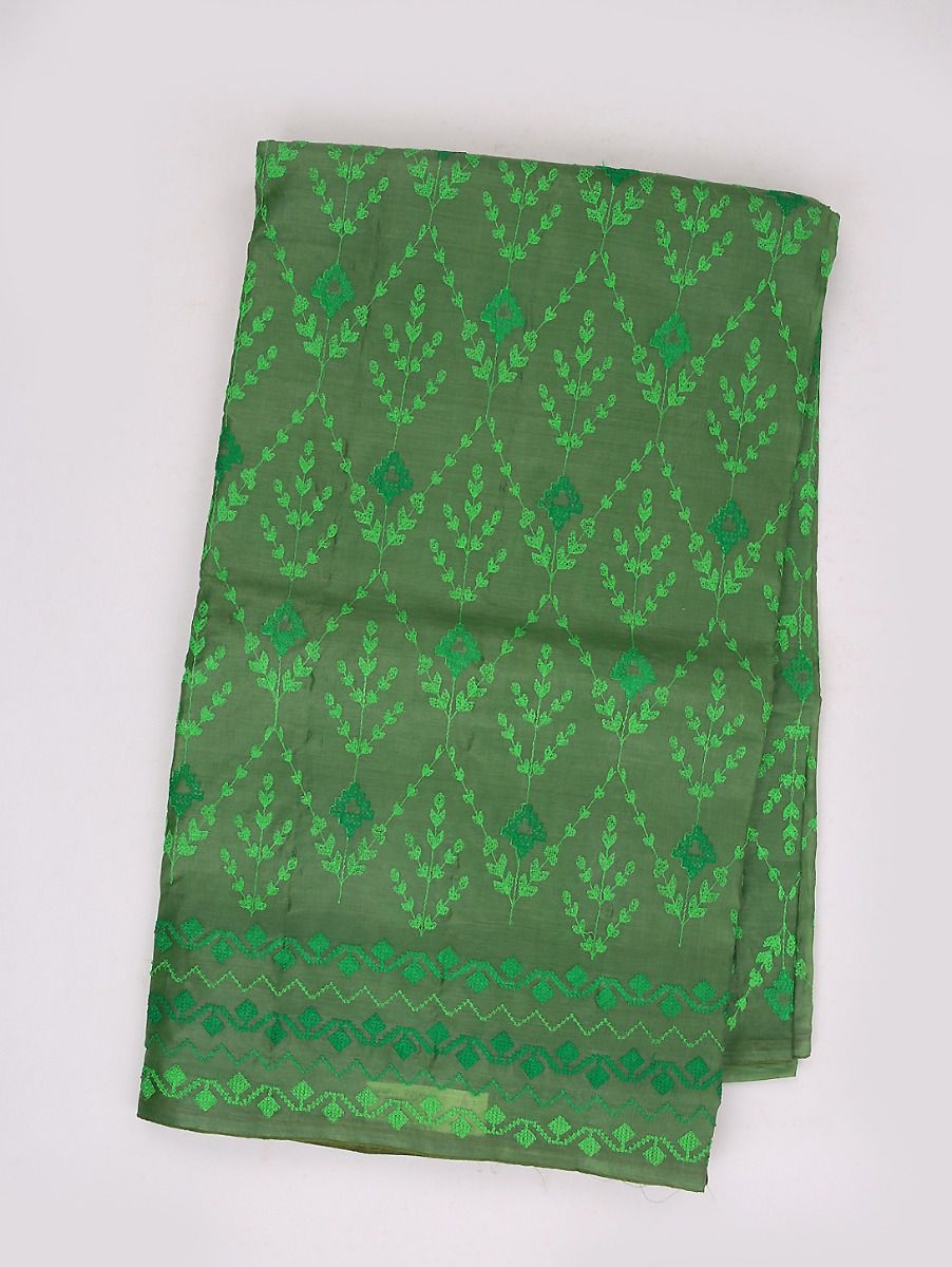 Kyathi Exclusive Thread Embroidery Tussar Silk Saree