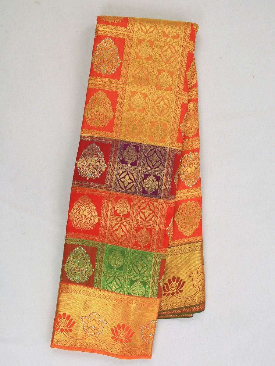Vivaha Traditional Stone Work Silk Saree