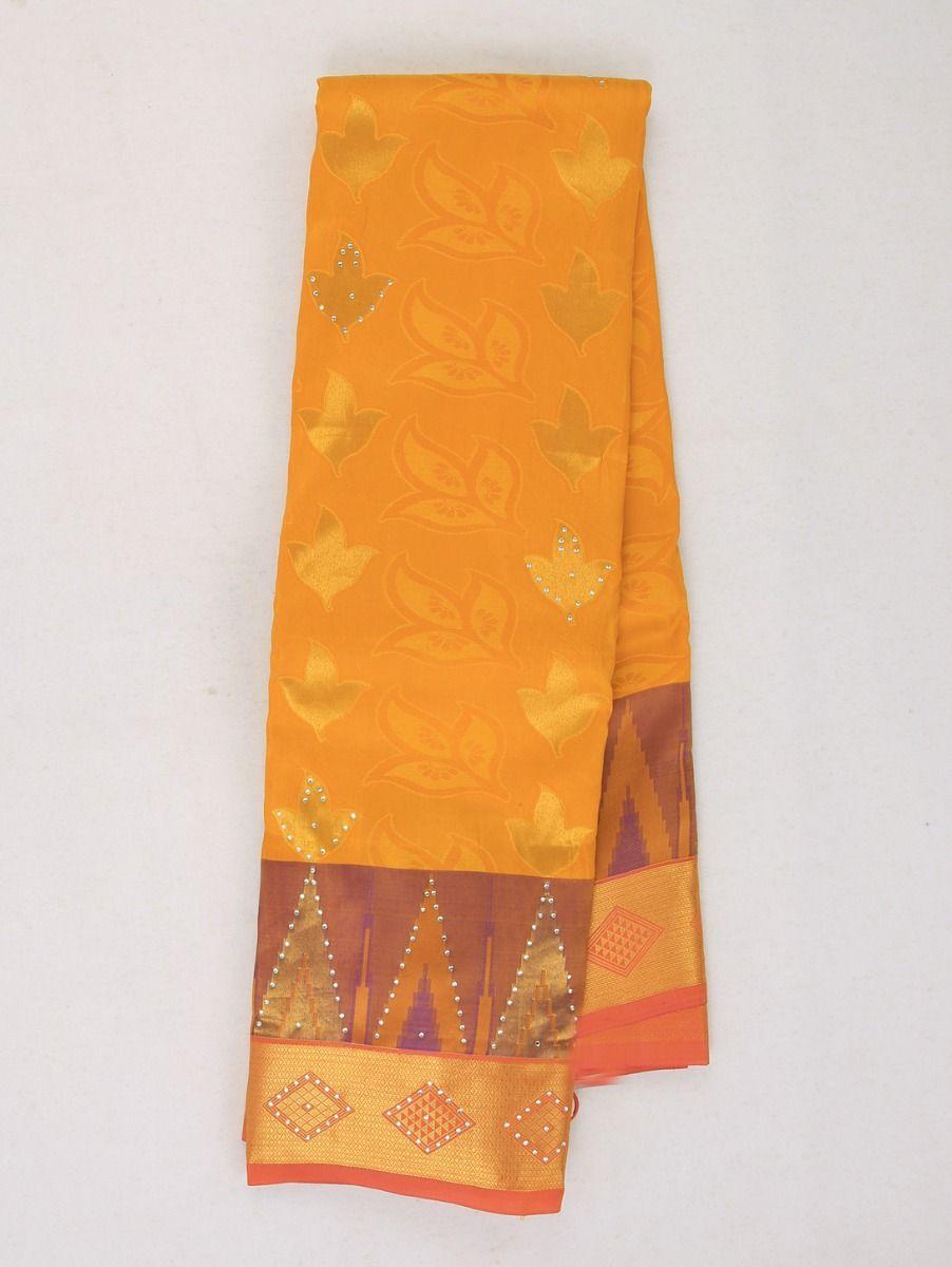 Bairavi Traditional Stone Work Gift Silk Saree
