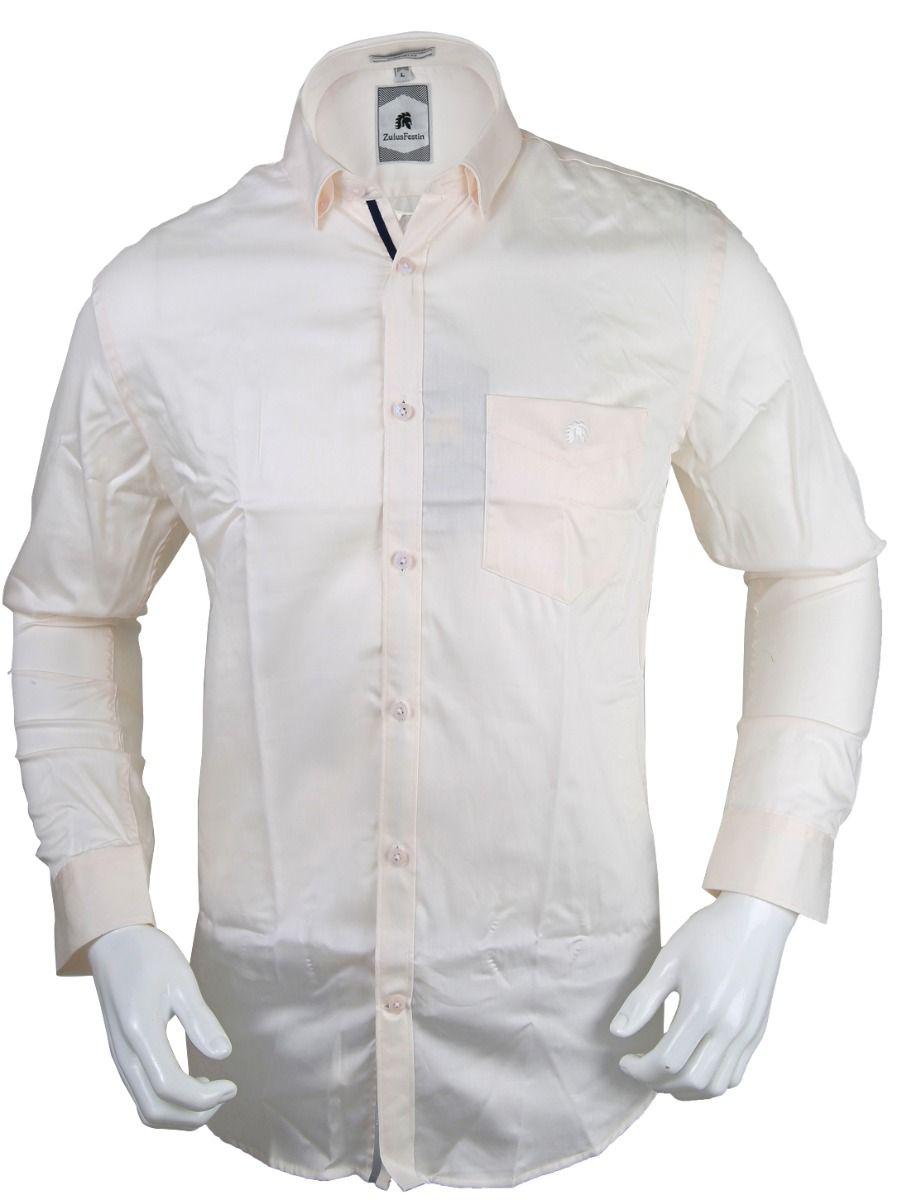 Zulus Festin Men's Formal Full Sleeve Satin Cotton Shirt - TUPMED8324411