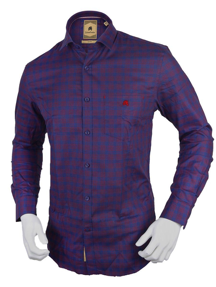 Zulus Festin Men's Formal Full Sleeve Cotton Shirt-TUPMFB2117301