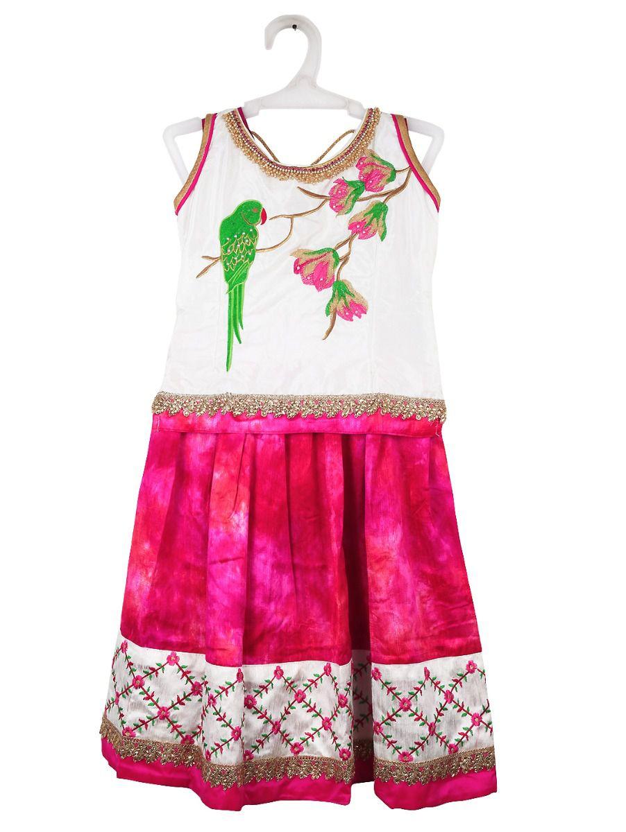 Sivasankari Babu Girls Ready Made Art Silk Pavadai Set - TUPMGC0548278