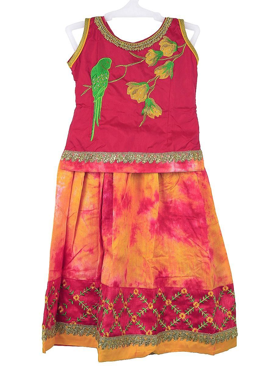 Sivasankari Babu Girls Ready Made Art Silk Pavadai Set - TUPMGC0548284