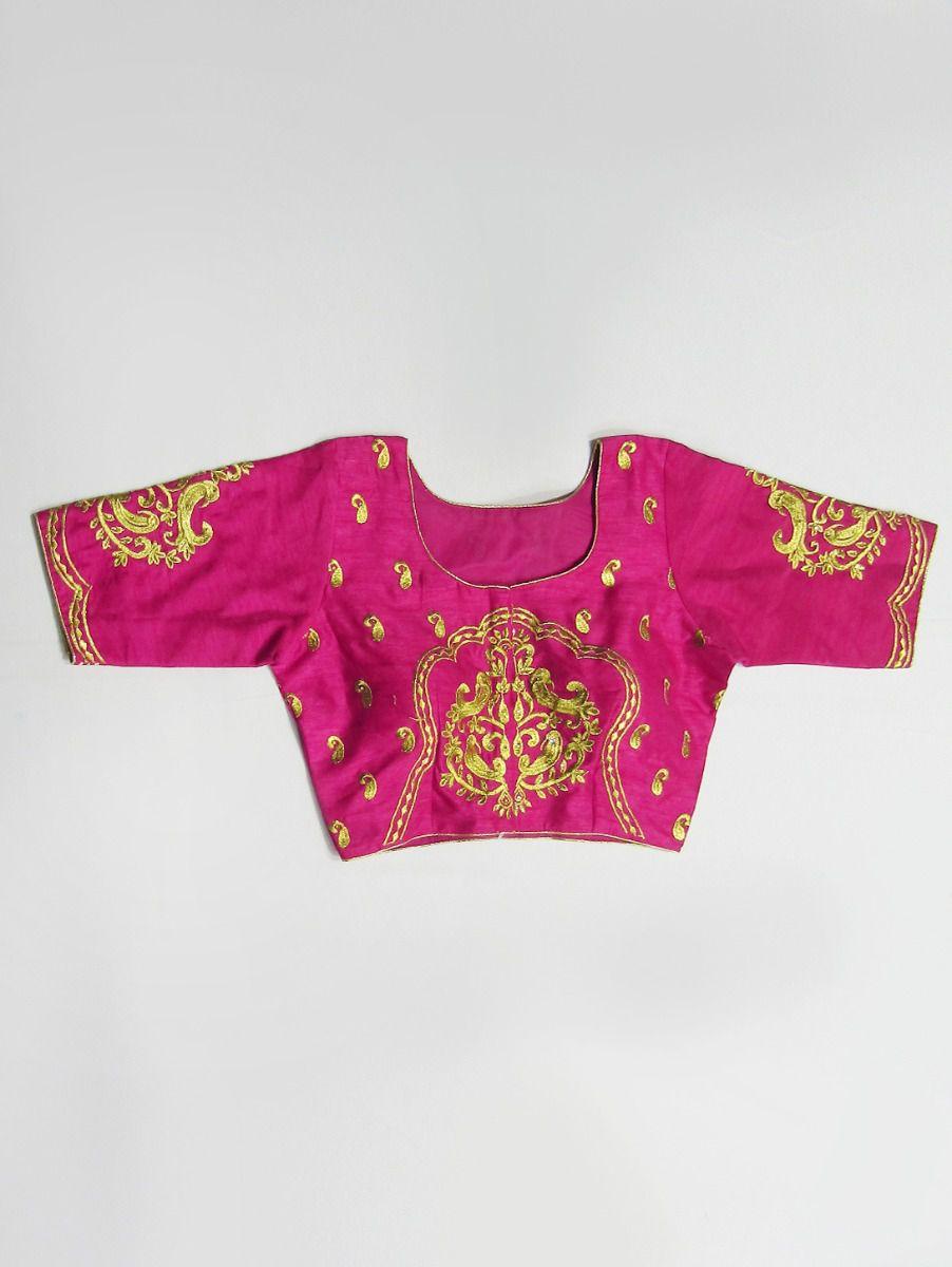 Fancy Silk Jacquard Readymade Blouse