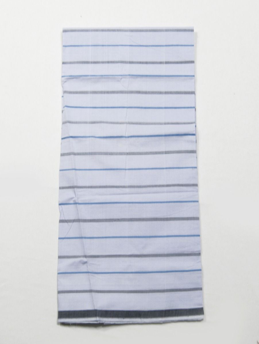 Men Cotton White Check Lungi,
