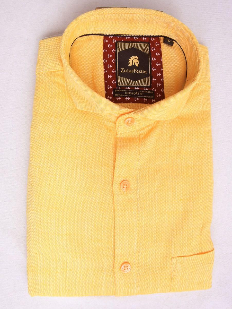 Zulus Festin Men's Pure Cotton Shirt - MGA8028017