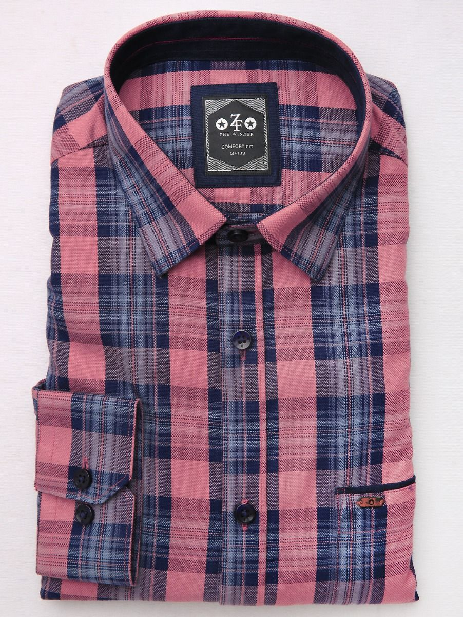ZF Men's Casual Checks Cotton Shirt - MGA8046128