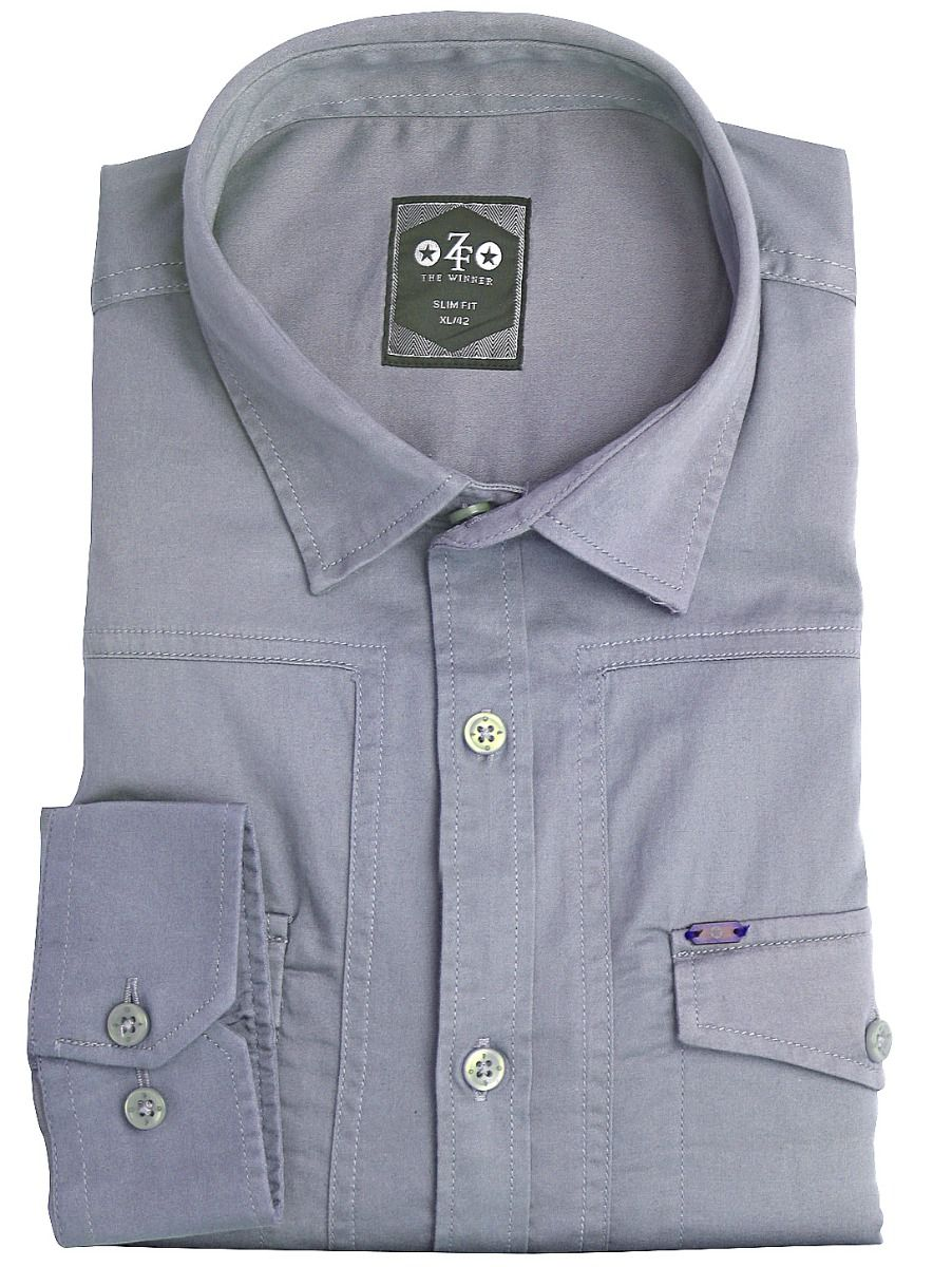ZF Men's Casual Cotton Shirt - MGA8055775