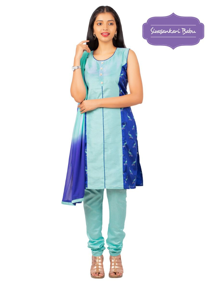 Sivasankari Babu Assam Silk Salwar Kameez - MGC0107521