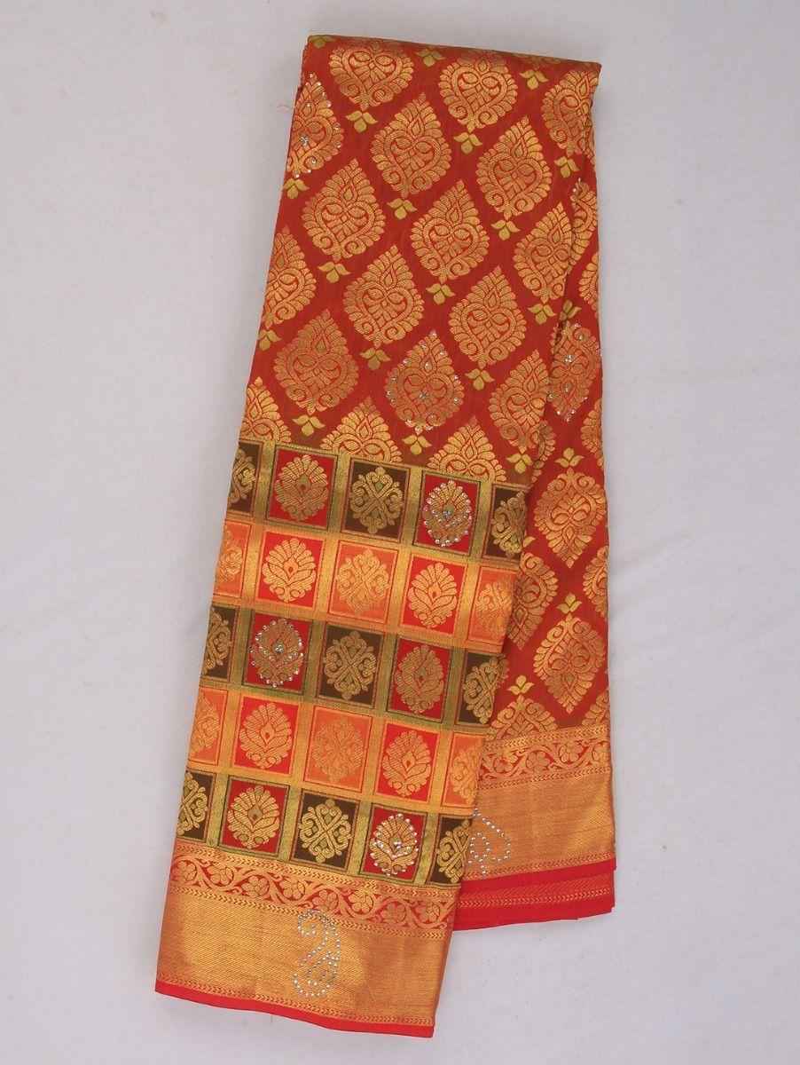 Vivaha Traditional Stone Work Silk Saree