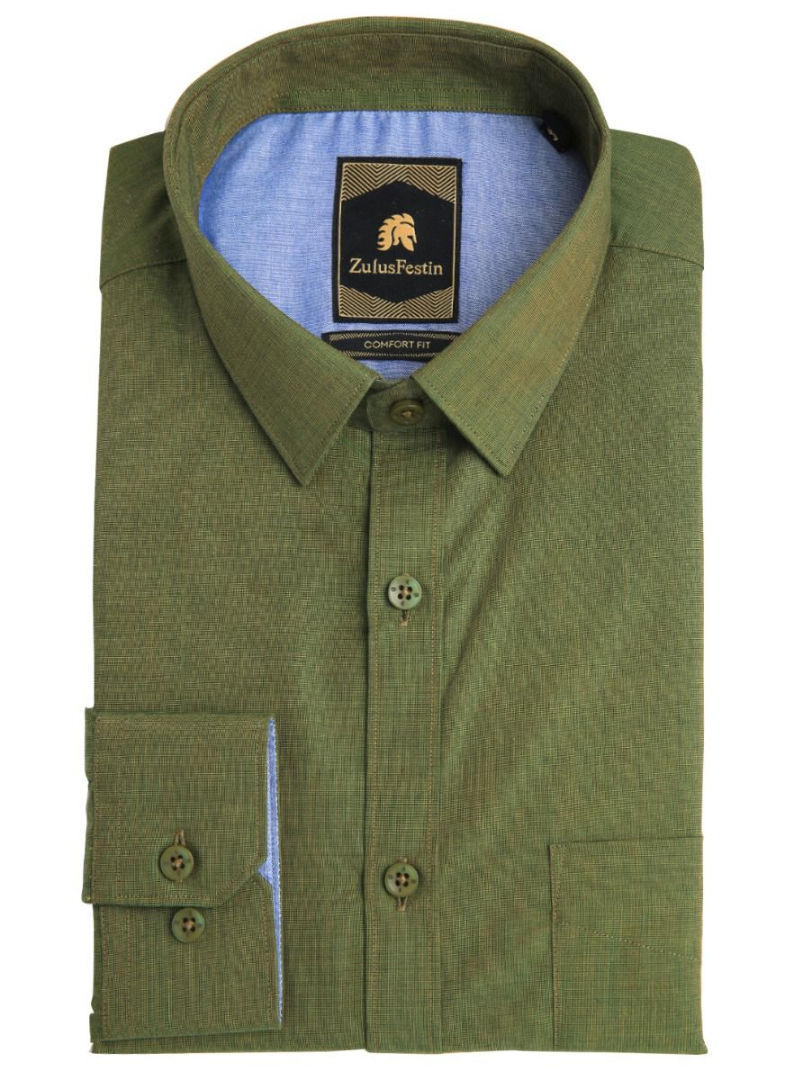 Zulus Festin Men's Formal Cotton Shirt - MGA8035397