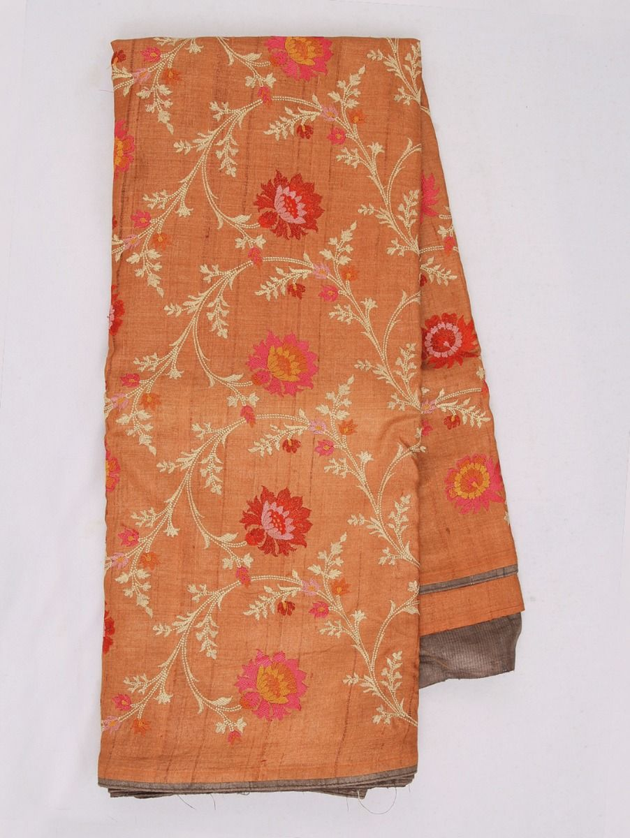 Kathana Exclusive Embroidered Pure Tussar Silk Saree