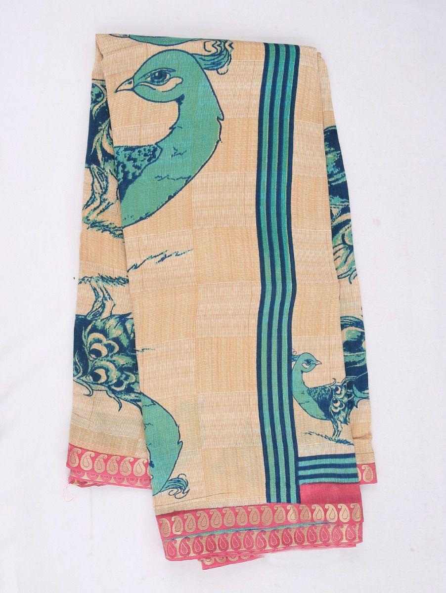 Kathana Exclusive Printed Tussar Silk Saree
