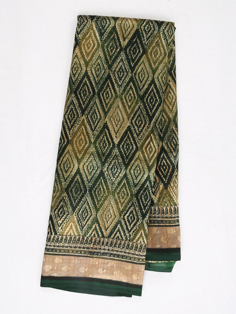 Dupion Printed design Work Silk Saree