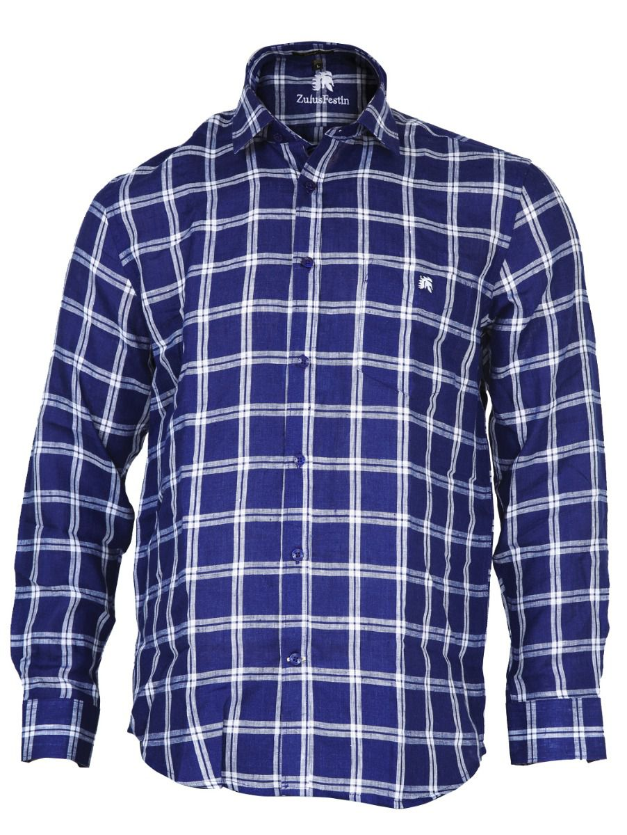 Zulus Festin Men's Linen Formal Shirt - MGC0296259