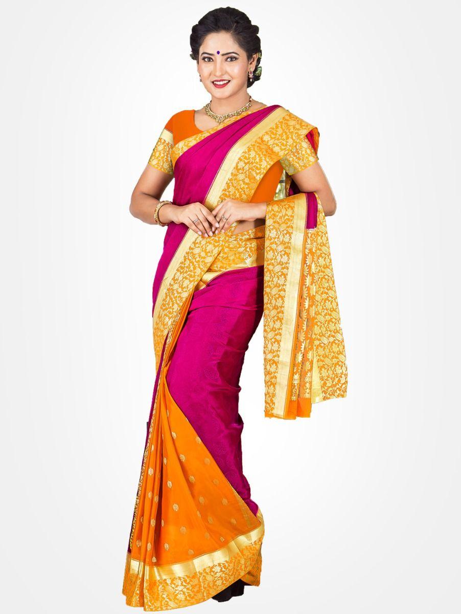e096ac5c131 Mysore Silk Saree. Double tap to zoom