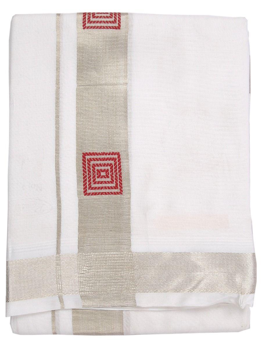 LBC6897291-Fancy Border Design Cotton Dhothy