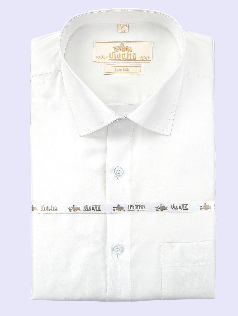 Vivaha Wedding Pure Silk Full Sleeve Shirts-TUPVWPS1001