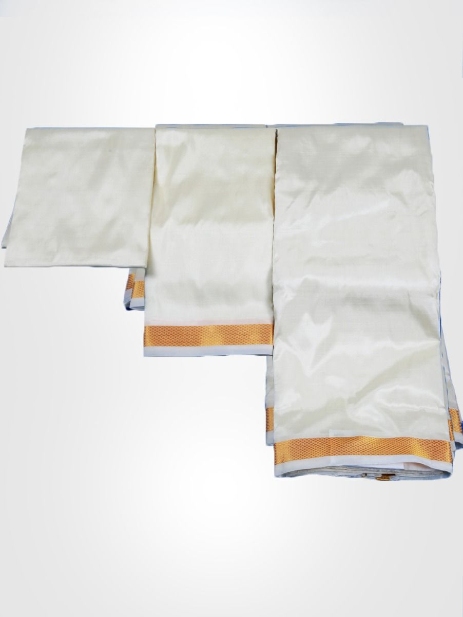Vivaha Art Silk Shirt & Dhoti Fabric Set - PMSD002