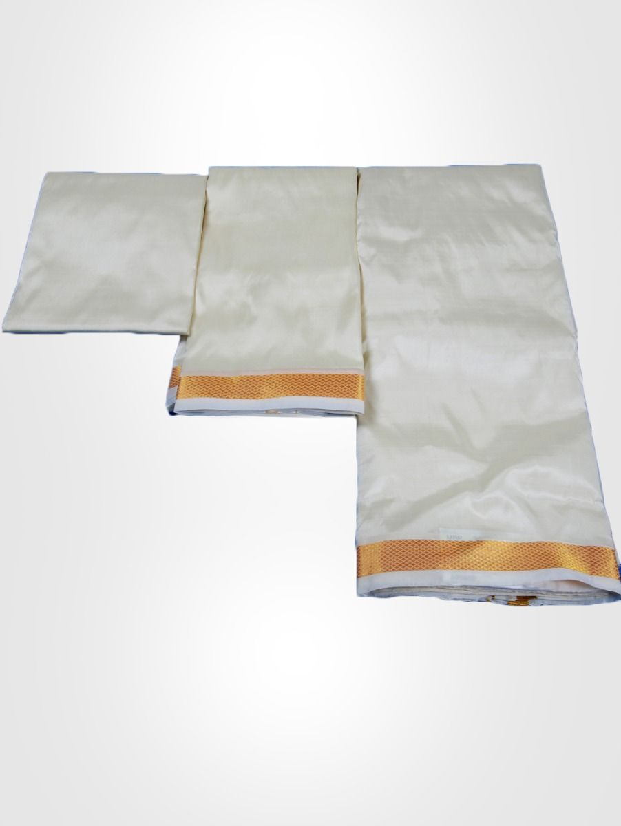 Vivaha Pure Mix Silk Shirt & Dhoti Fabric Set - PMSD001