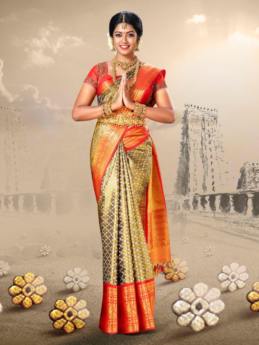Vivaha Goddess Pure Kanchipuram Silk Saree - VGSS1001