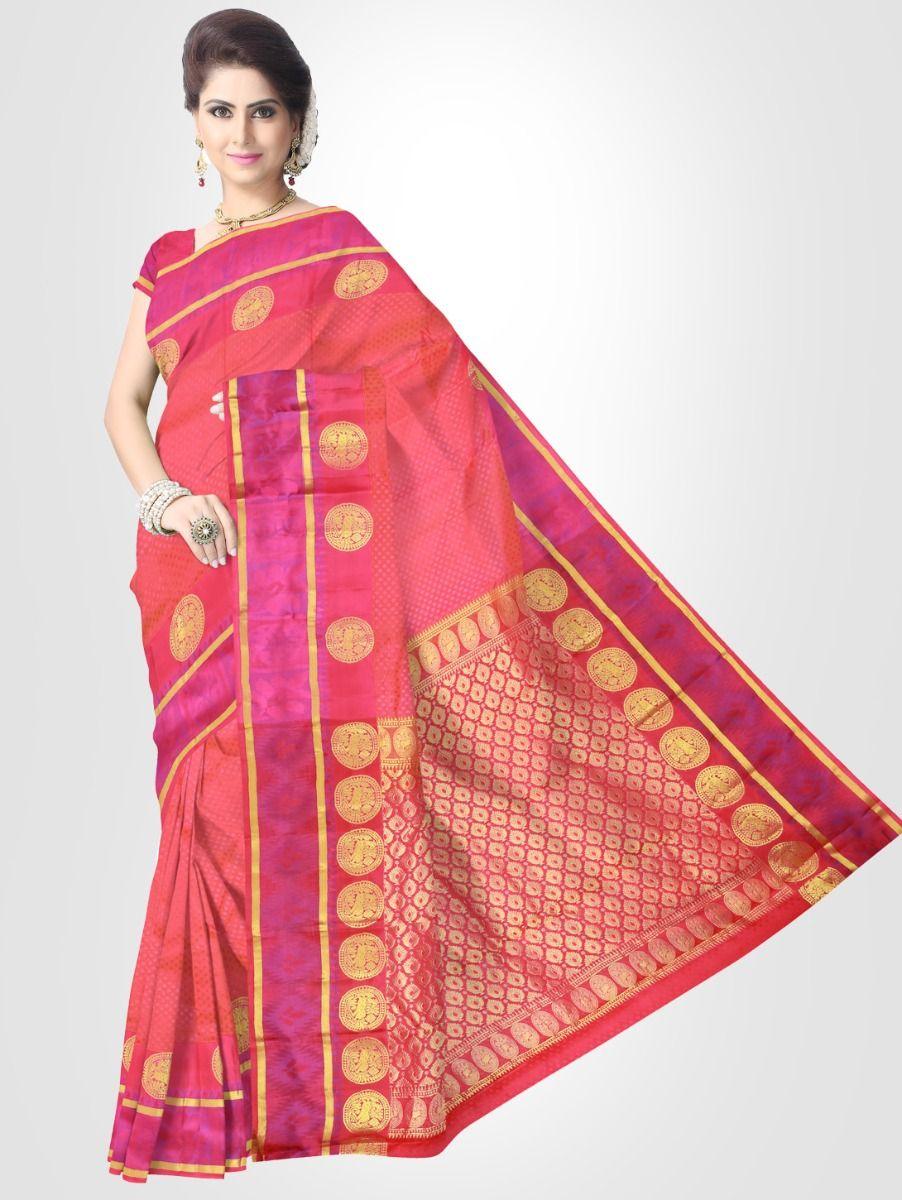 Bairavi Traditional Silk Saree - Pink - BTSS1001