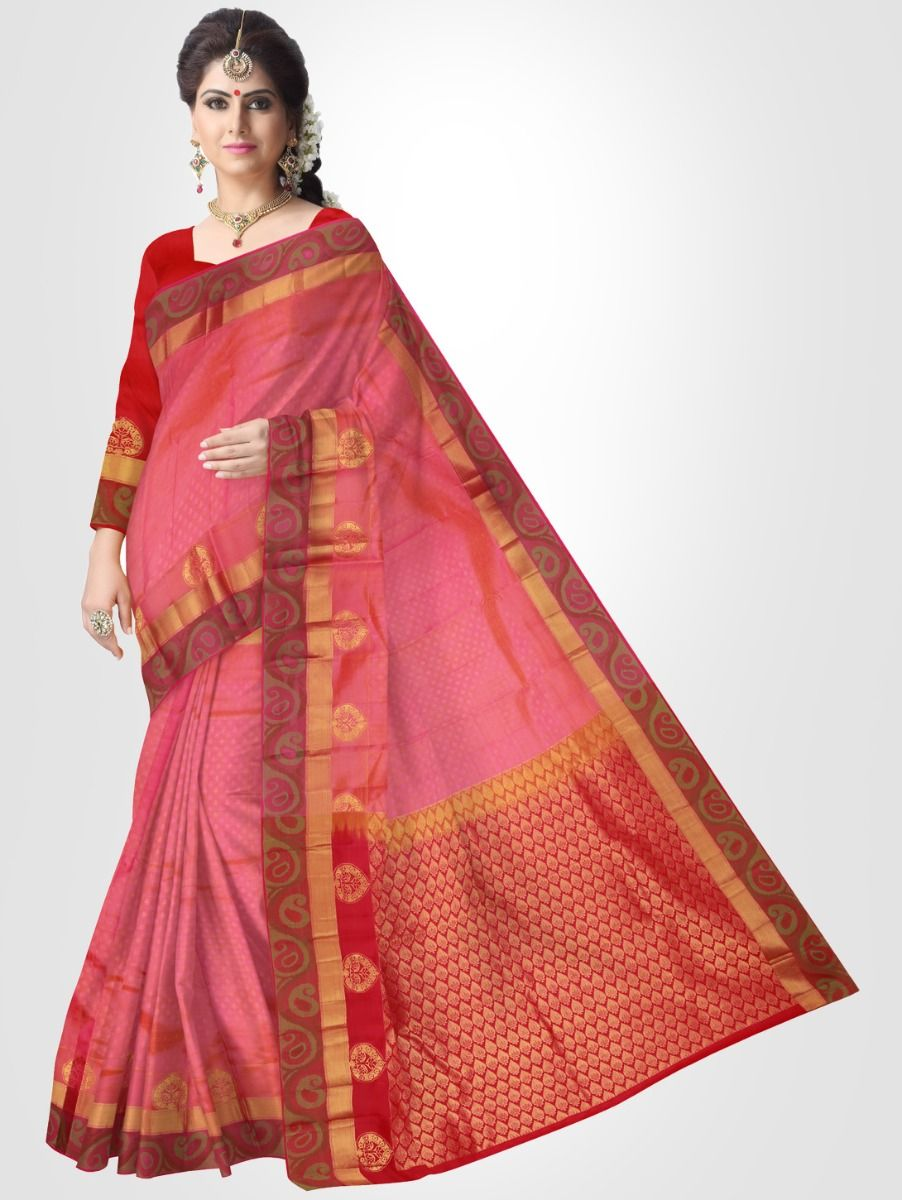 Pink Bairavi Traditional Silk Saree
