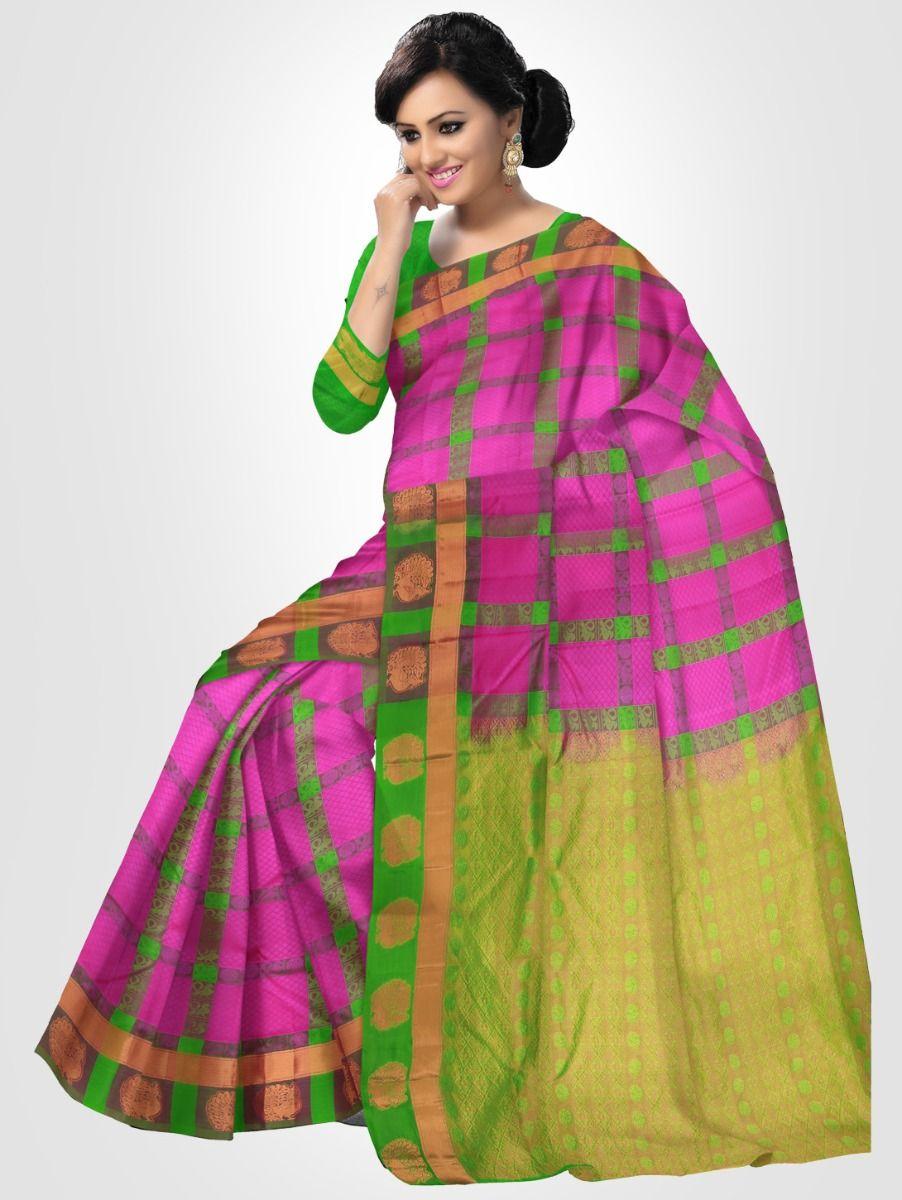 Bairavi Traditional Silk Saree - Violet - BTSS1007