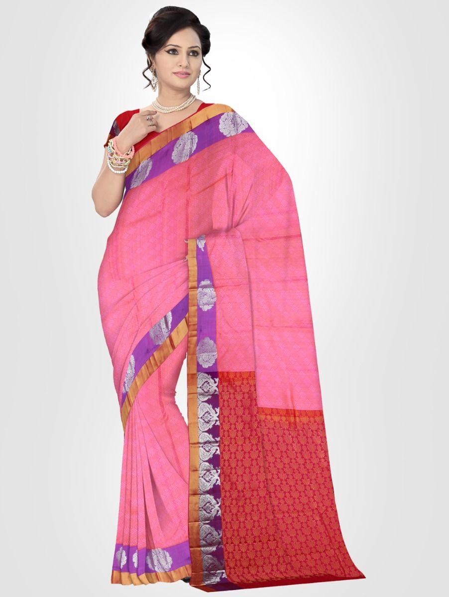 Bairavi Rose Traditional Silk Saree