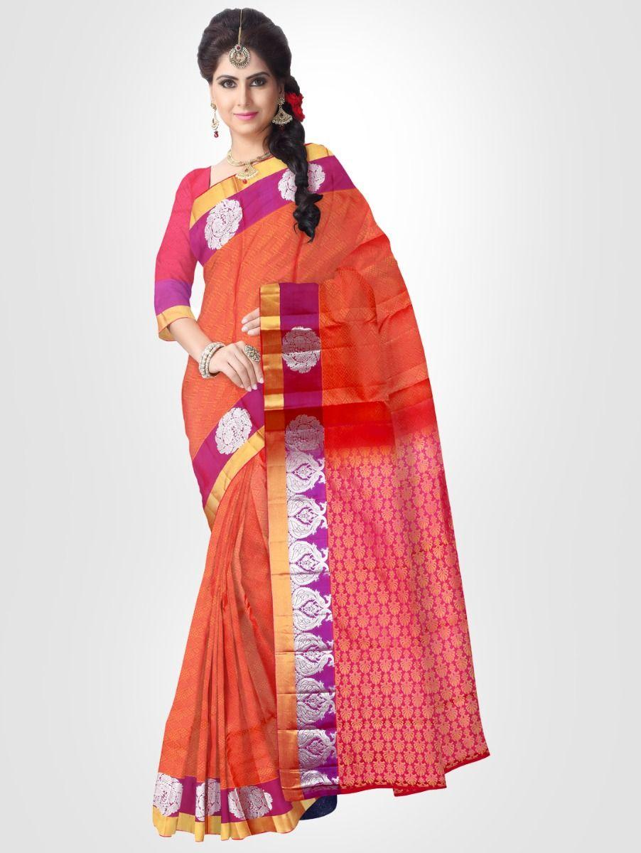 Bairavi Red Traditional Silk Saree