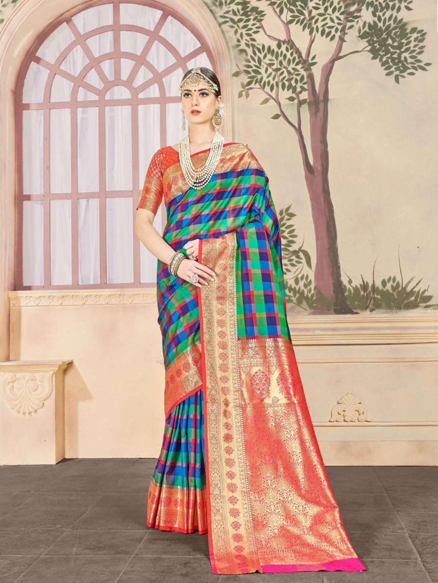 fancy-art-silk-saree-gfa102