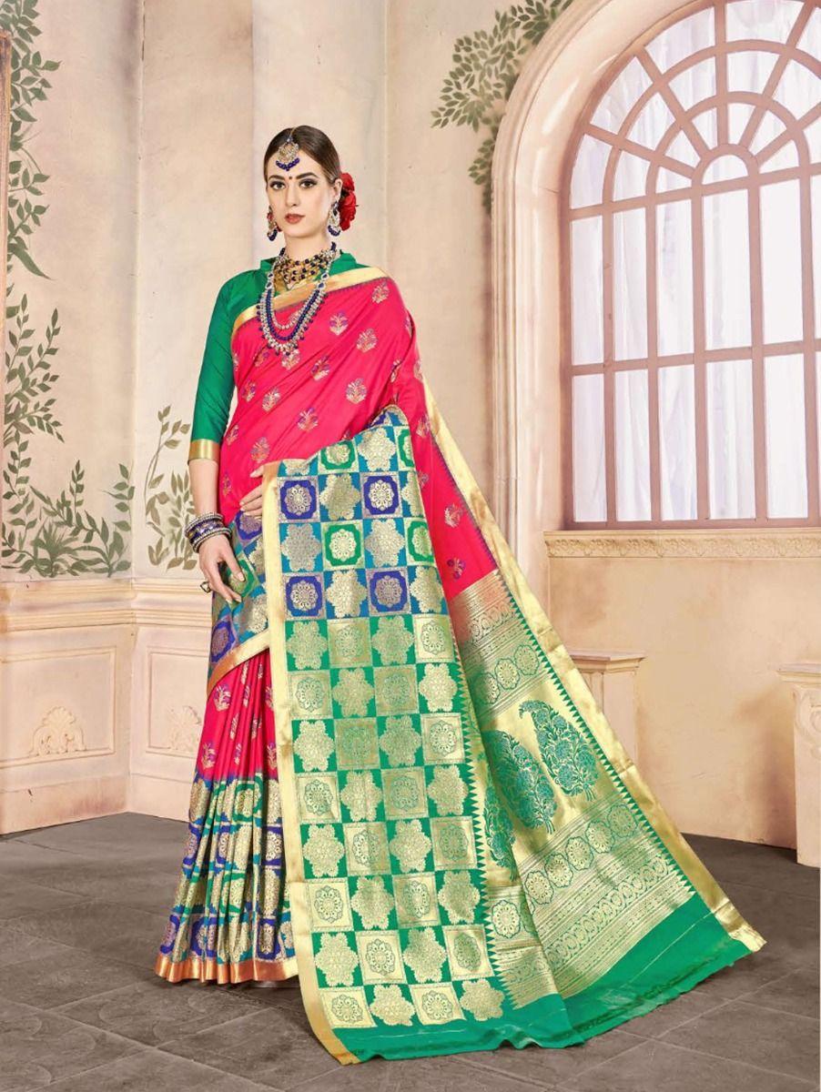 fancy-art-silk-saree-gfa103