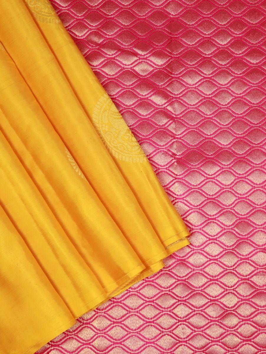 Bairavi Yellow Traditional Silk Saree