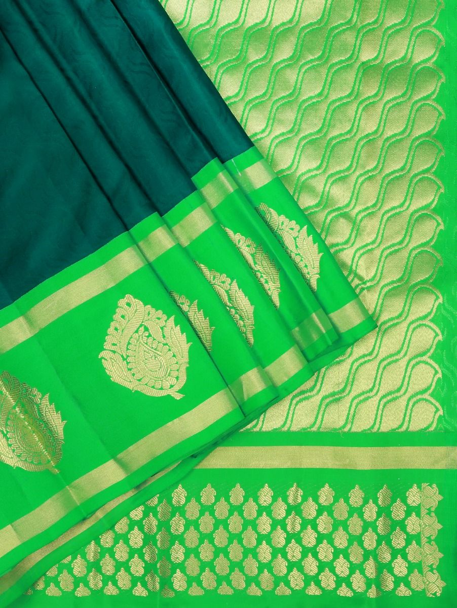 Bairavi Green Traditional Silk Saree