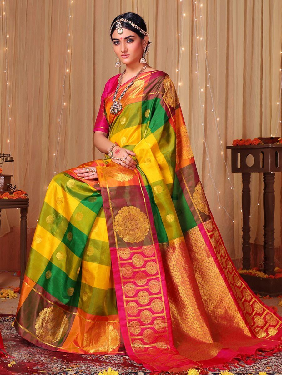 Bairavi Traditional Multi Color Silk Saree