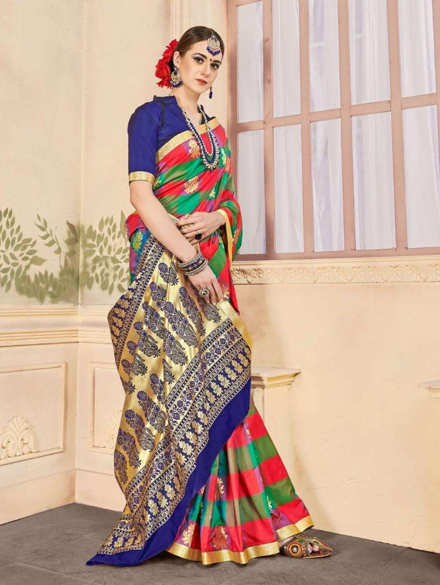 fancy-art-silk-saree-gfa107