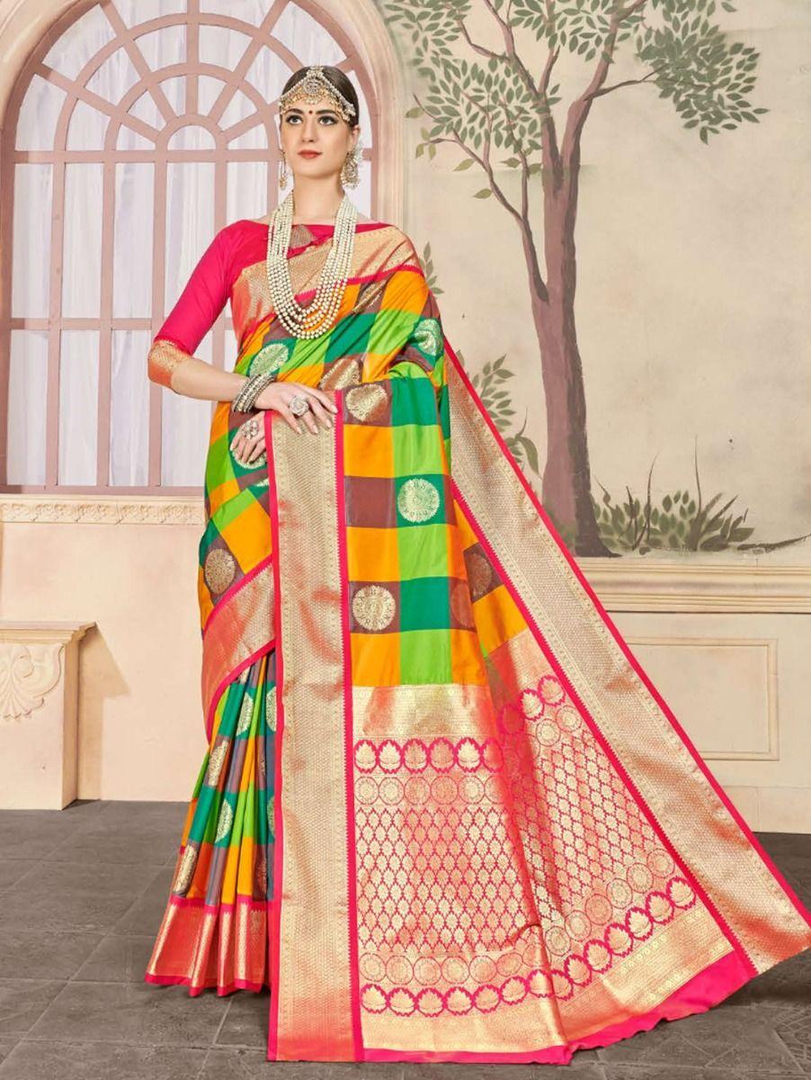 fancy-art-silk-saree-gfa109