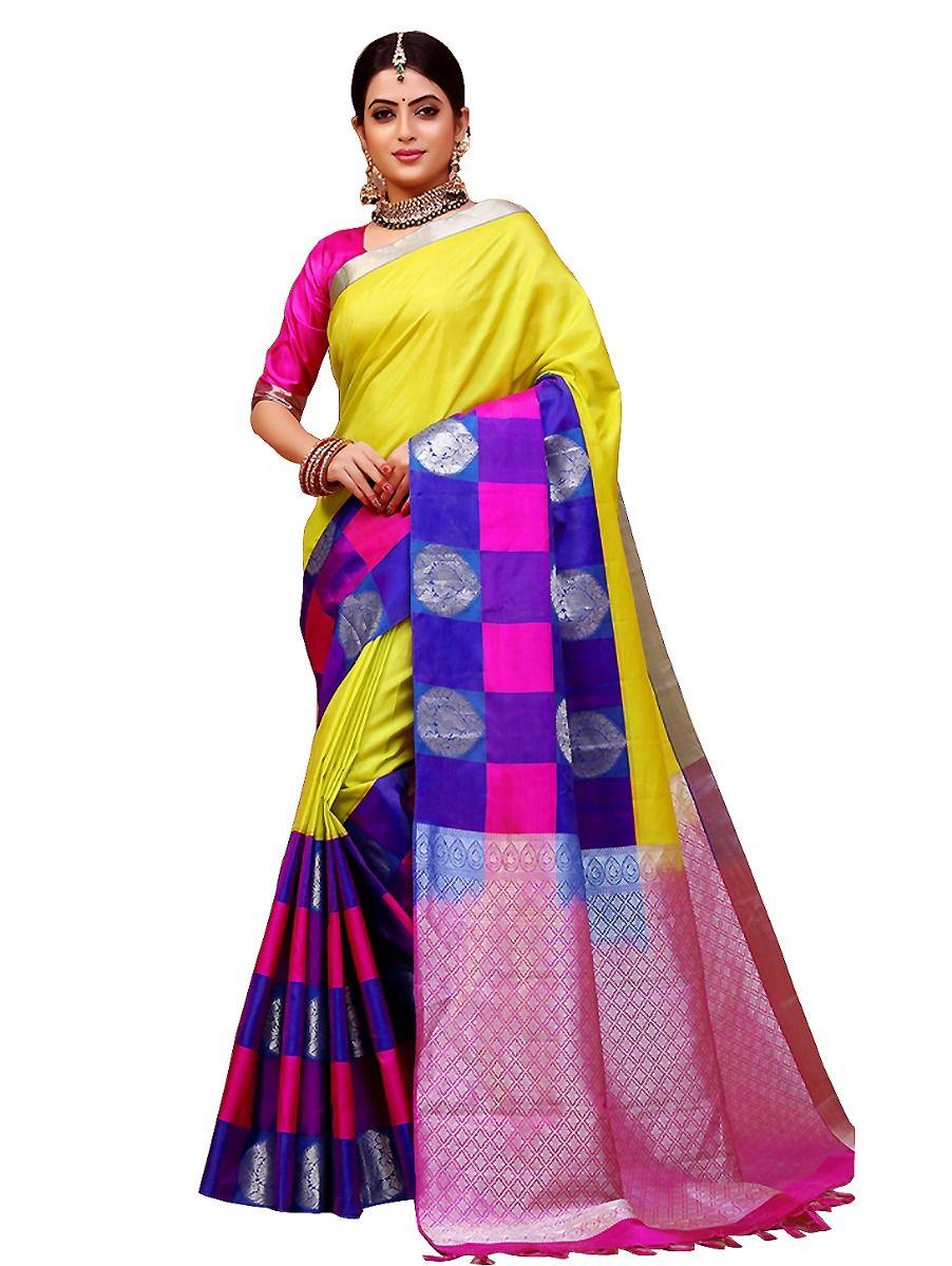 Bairavi Traditional  Multi Color Border Silk Saree