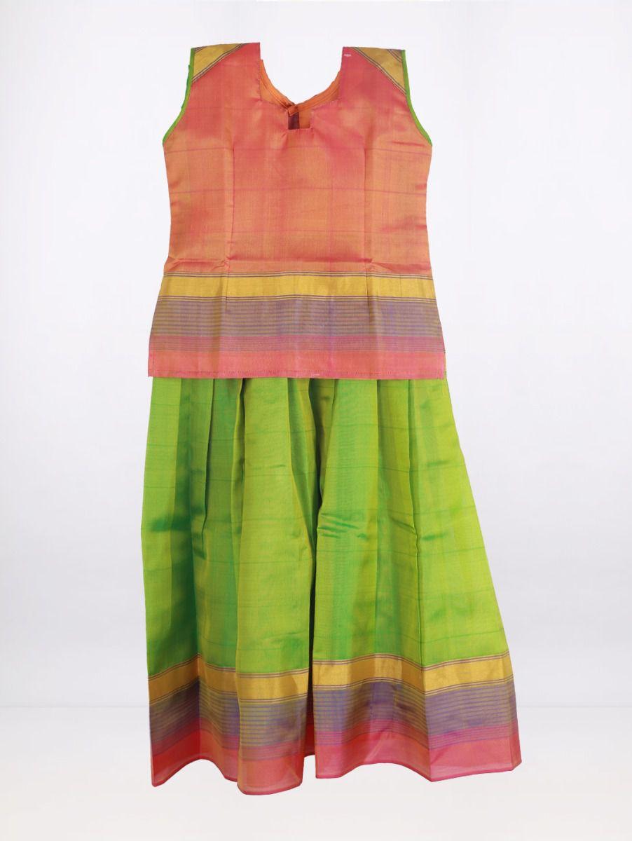 Fancy Art Silk Pattu Pavadai - Multi - ASPP2013