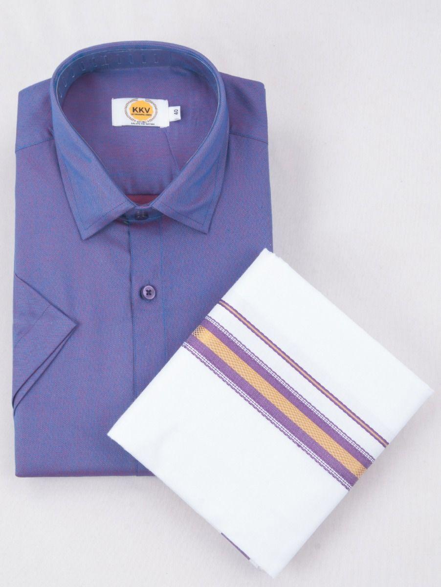 KKV Cotton Half Sleeve Shirts & Fancy Border Dothi - ONLKKVC2014