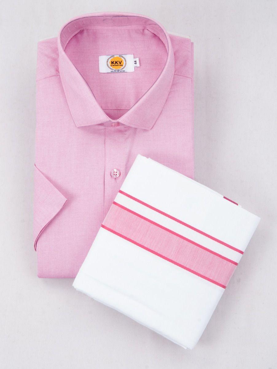 KKV Cotton Half Sleeve Shirts & Fancy Border Dothi - ONLKKVC2015