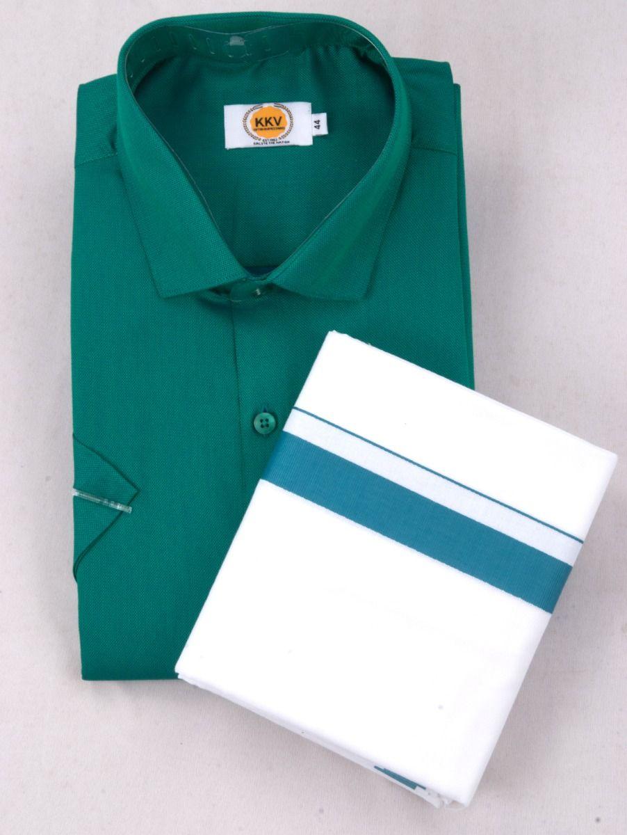 KKV Cotton Half Sleeve Shirts & Fancy Border Dothi - ONLKKVC2017