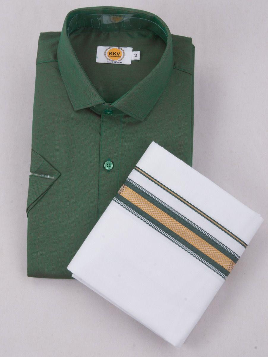 KKV Cotton Half Sleeve Shirts & Fancy Border Dothi - ONLKKVC2021