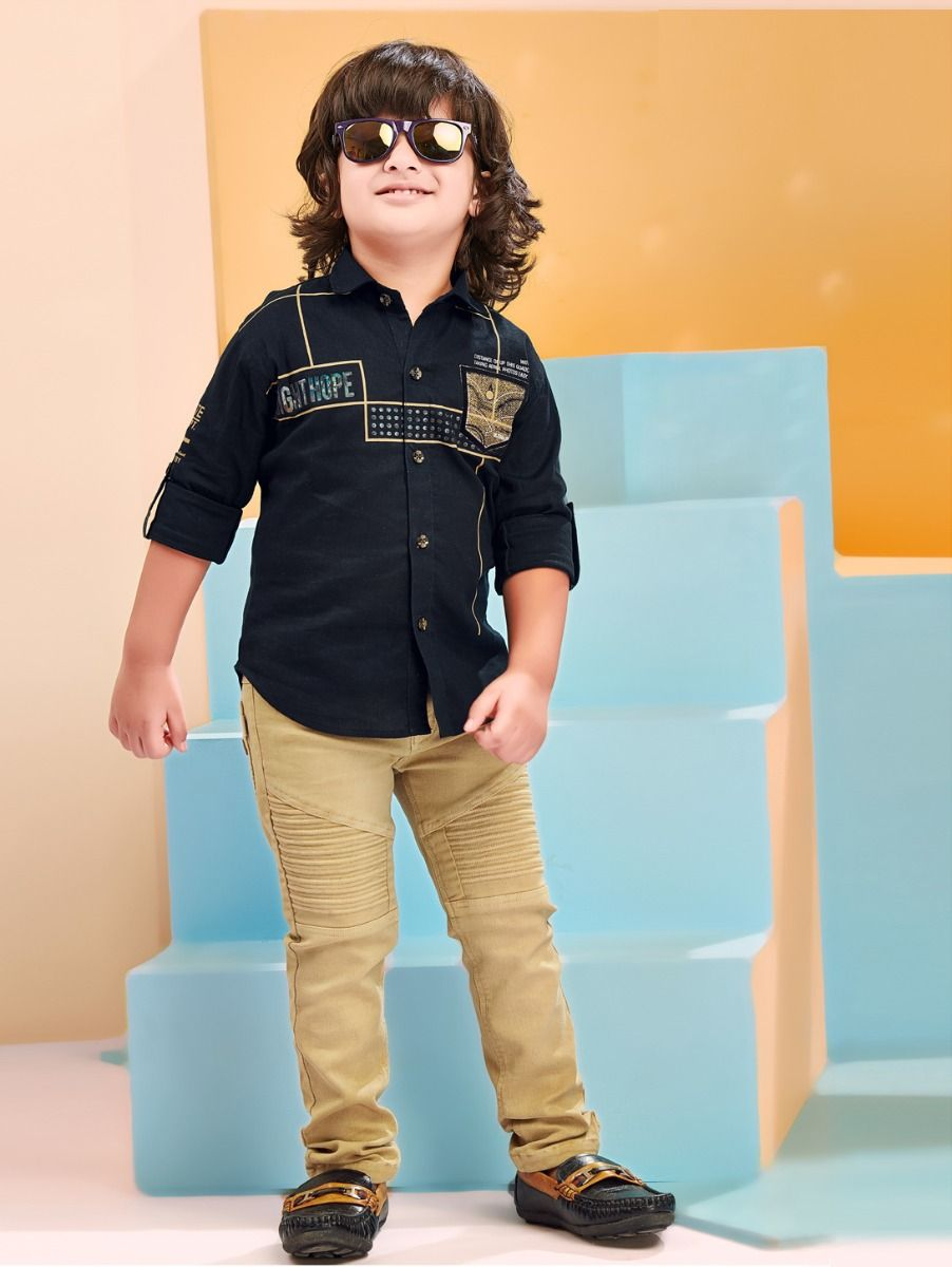 Boys Casual Shirts and Pant Set-ONLBCS2277