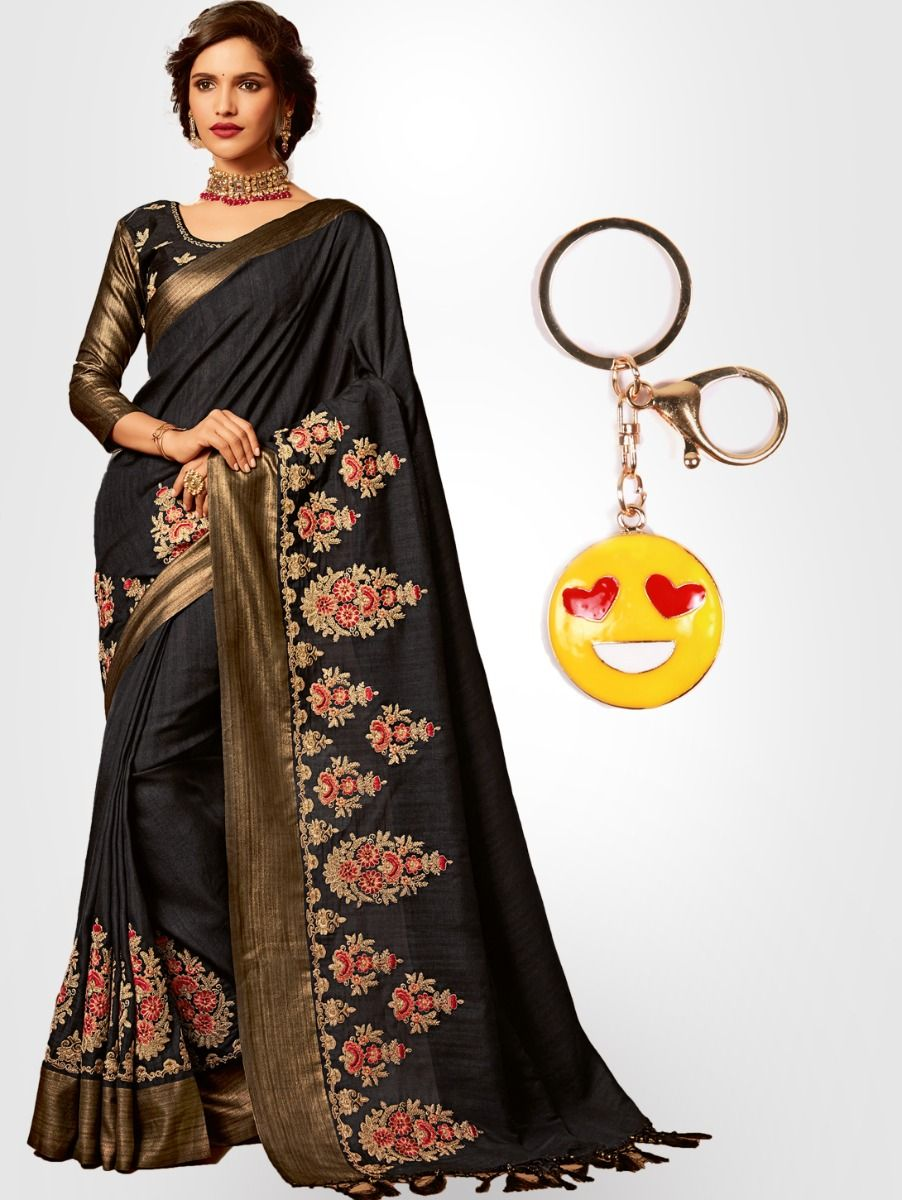 Chiffon Partywear Saree with Imported Keychain - PWS2303K09