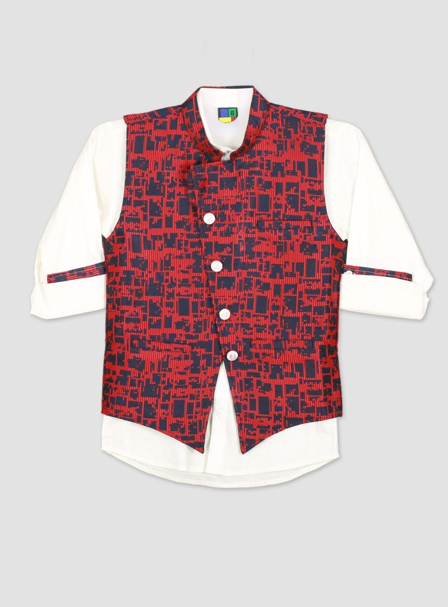 Red with White Boys Suit