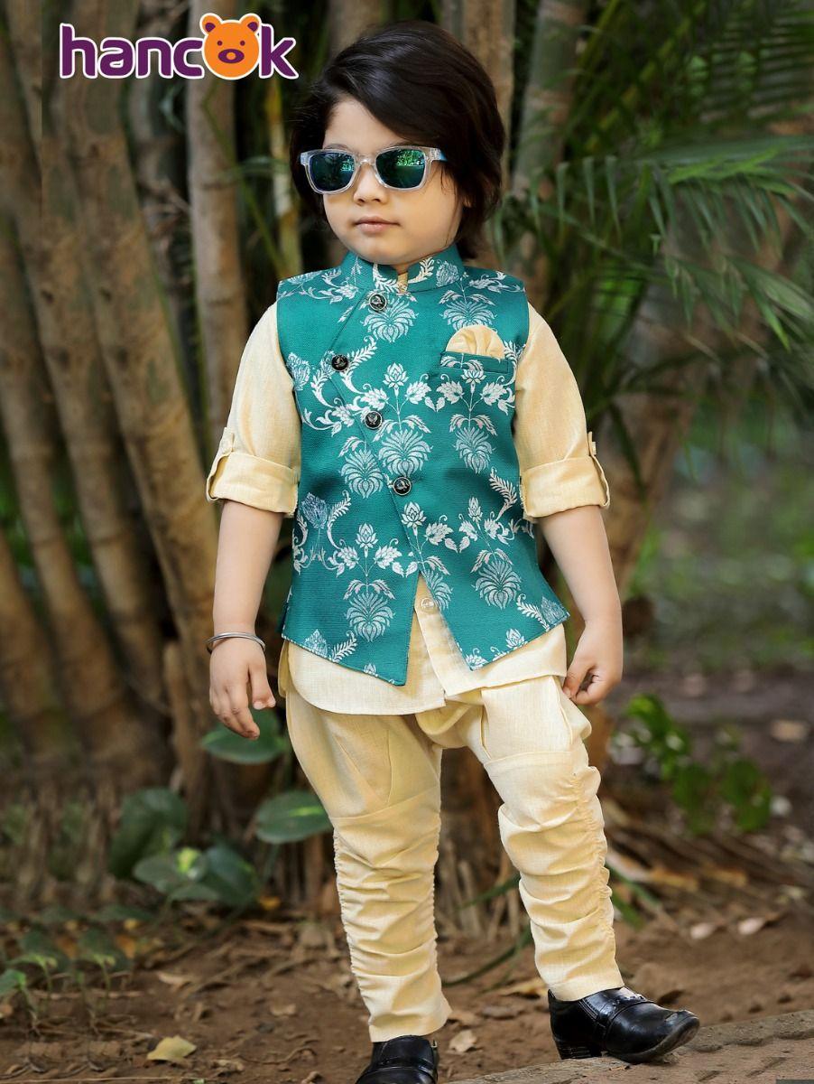 Hancok Boys Linen Shirt And Pant Set