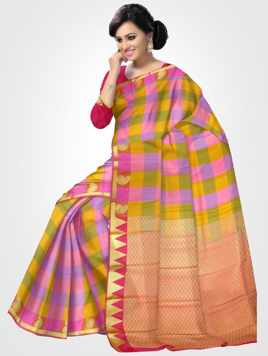 Fancy Art Silk Multicolor Saree